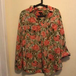 Talbots floral ladies blouse
